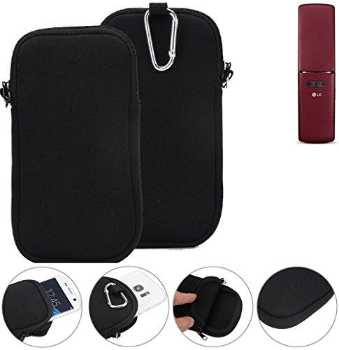 K-S-Trade Neopren Hülle für LG Electronics WineSmart Schutzhülle Neoprenhülle Sleeve Handyhülle Schutz Hülle Handy Gürtel Tasche Case Handytasche schwarz