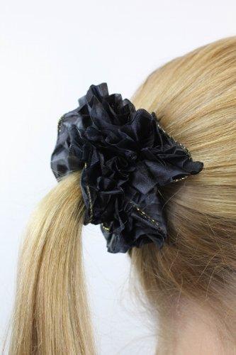 schickes-haarband-haarbinder-haarrosette-scrunchy-schwarz-haargummi-z004