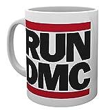 Run DMC Mug Classic Band Logo Hip Hop Walk This Way Official White