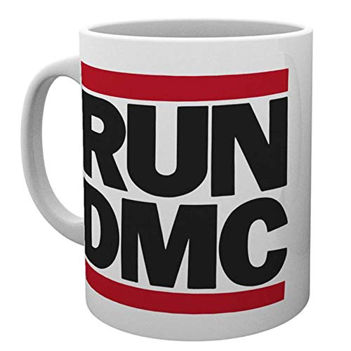 Run DMC Kaffeetasse Classic Band Logo Hip Hop Walk this way Nue offiziell Weiß