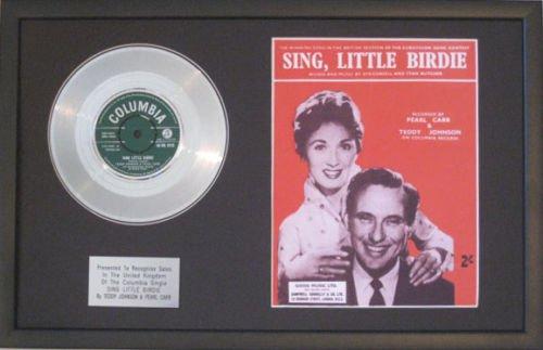 Teddy Johnson & Pearl Carr-Platinum disco & lo spartito-Sing Little Birdie