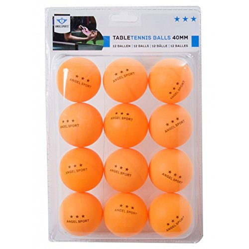 12pelotas de tenis de mesa naranjas