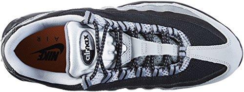 Nike Air Max 95 Essential, Scarpe da Corsa Uomo Nero / Grigio (Black / Black-Wolf Grey-Cl Grey)