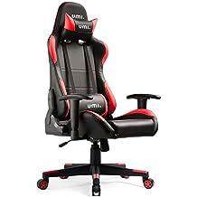 Umi. Essentials - Silla Gaming silla giratoria ergonómica con respaldo alto, reposacabezas y soporte lumbar