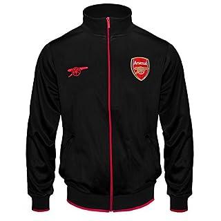 FC Arsenal Herren Retro-Trainingsjacke - Fußballgeschenk - 100% Polyester - Schwarz - 3XL