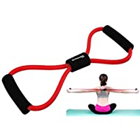 STRAUSS Unisex Adult ST-1030 Yoga Soft Chest Expander - Red/Black, One Size