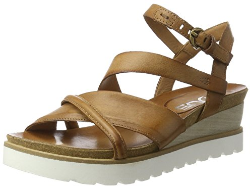 Mjus 221022-0401, Sandales  Bout ouvert femme Braun (Biscotto)