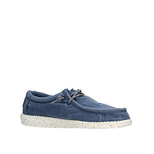 Dude Shoes Männer Wally Gewaschen Dunkelgrau Blau