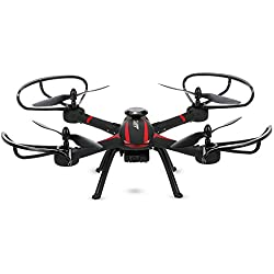 Goolsky JJRC H11WH Drone con Cámara 2.0MP HD 2.4G 4CH 6-axis Gyro WiFi FPV RC Quadcopter RTF con Funciones de Modo sin Cabeza Mantenimiento de Altura 3D-flip