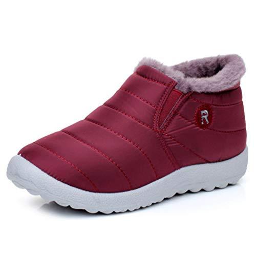 213360ed6ae139 Frauen Schuhe Wasserdichte Warme Daunen Schnee Stiefel Winter Runde Zehe  Plüsch Pelz Rutschfeste Outdoor Flache Stiefeletten