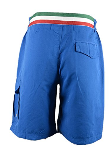Mjfashion Herren Badeshorts Badehose Short Italia-Print P5019 Royal Blau