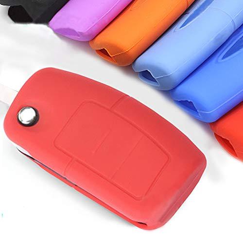 Muchkey Silicone Key Case Cover Cl/é De Voiture Couverture De Protection Fit Pour 2 Bouton T/él/écommande /À Cl/é Avec Rouge Silicone Couverture De Protection