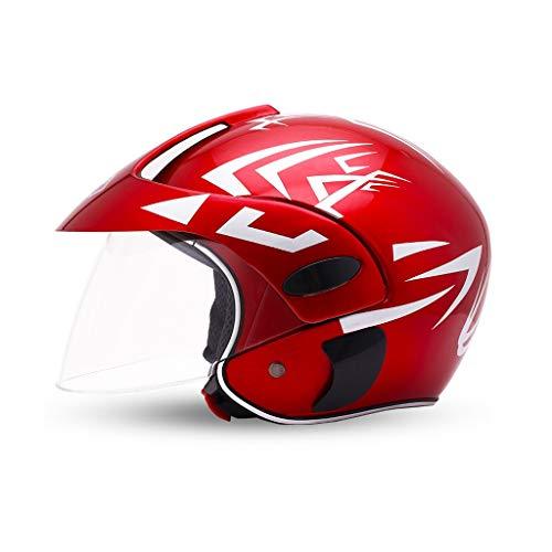 Motorrad Kinderhelm Jungen und Mädchen Vier Jahreszeiten Schutzhelm Sommer Outdoor Sports Cartoon Helm (Color : Red Arrow)