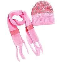 Zolimx Kinder häkeln Hut Fell Wolle Wollmütze Waschbär Warm Caps + Schal Anzug