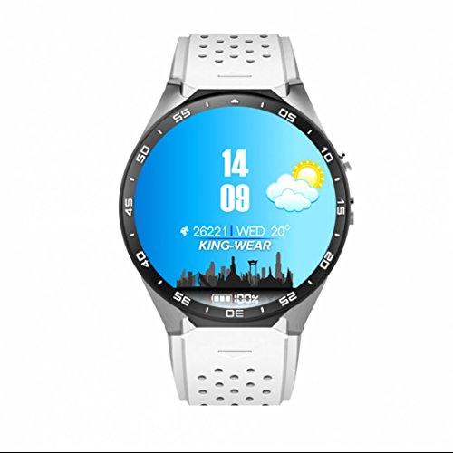 Touch Screen GPS / WiFi Smart Watch Handy-Uhr Fitness Uhr mit SIM Card Slot / Funktionen Kamera Herzfrequenz Monitor Fitness Armband Pulsmesser Uhr Bluetooth Armbanduhr Smart Uhr Schrittzähler für Android Smartphones (Gprs-handy)