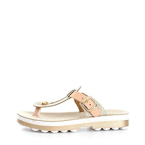 Melluso 03316 Tongs sandales Femme Beige/Gold
