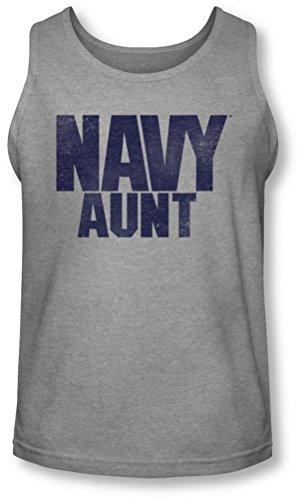 Navy - Herren Tante Tank-Top Athletic Heather