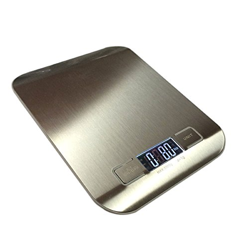 stainless-steel-digital-kitchen-weight-scale-by-hub-11lb-5kg-professional-flat-accurate-food-weighin