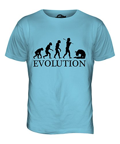 CandyMix Acro Evolution Des Menschen Herren T Shirt Himmelblau