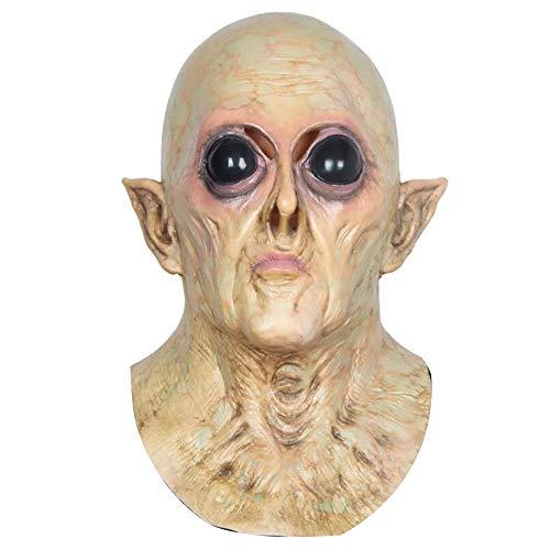 Weird Scary Mask Alien UFO Kopf Set Halloween Karneval Weihnachtsfeier Dekoration Latexmaske Bar Haunted House Filme und TV Requisiten Horror Party Maske Erwachsene ()