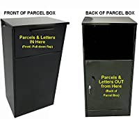REAR OPENING Home Delivery Letter & Parcel Mail Box - Fitted in to a wall or gated property - Secure Parcel Box - Heavy Duty SECURE Extra Large Post Box - Galvanised steel - Parcel Drops Down to Secure Lower Part of ParcelBox - Domestic, Private Use and I