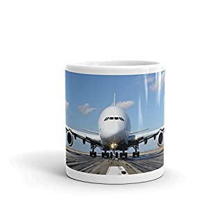 Airbus A380 Airplane Aeroplane Runway 10oz Coffee Tea Mug #8108