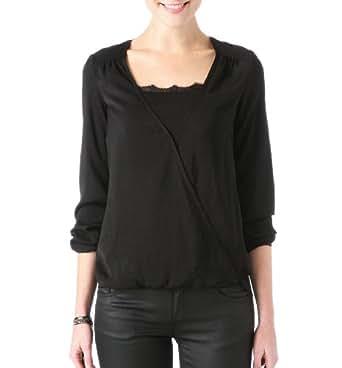 Promod Seidige Damen-Bluse Schwarz 38