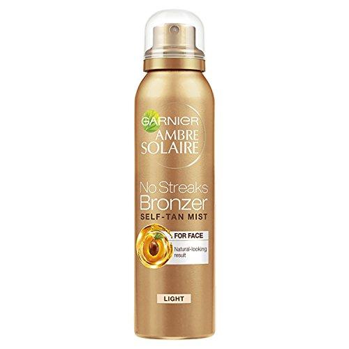 Garnier Ambre Solaire No Streaks Bronzer Light Self Tan Face Mist, 75 ml