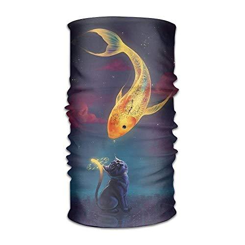 Magische Headwear-Kunst-Fantasie-Goldfisch-Kätzchen-im Freienschal-Stirnbänder Bandana
