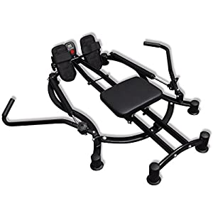 41oxyTesZVL. SS300  - vidaXL Rowing Machine Home Excercise Fitness Hydraulics-Based Resistance Adjustable