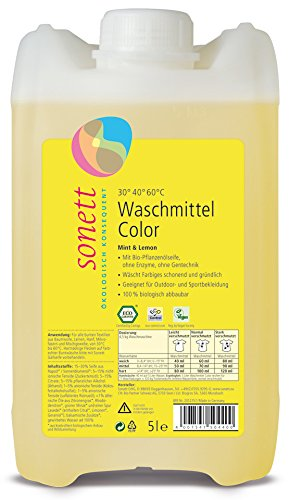 Duftende Natürliche Hanf (Waschmittel Color: Duft von Bio-Minzöl und Bio-Lemongrassöl, 100% biologisch abbaubar)