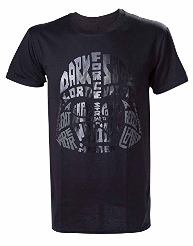Star Wars Darth Vader Word Play-camiseta Hombre Negro negro XX-Large