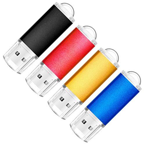 SunData USB Stick 4 Stück 16GB USB-Sticks USB 2.0 Speicherstick Flash Laufwerk