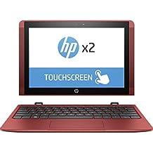 """HP x2 10-p007ns - Ordenador Portátil 2 en 1 de 10,1"""" HD (Intel Atom x5-Z8350, 2GB RAM, 32 GB eMMC, Gráficos HD Intel 400, Windos 10); Rojo Cardinal - Teclado QWERTY español"""