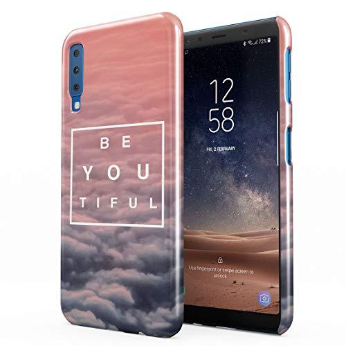 Beautiful Cute Be Youtiful PClouds Tumblr Dünne Rückschale aus Hartplastik für Samsung Galaxy A7 2018 Handy Hülle Schutzhülle Slim Fit Case Cover