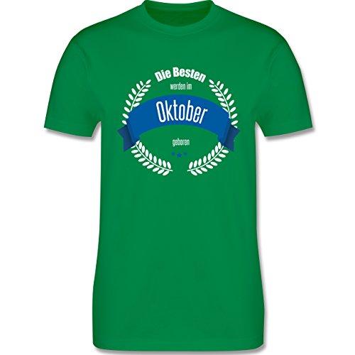 Geburtstag - Die Besten werden im Oktober geboren - Herren Premium T-Shirt Grün