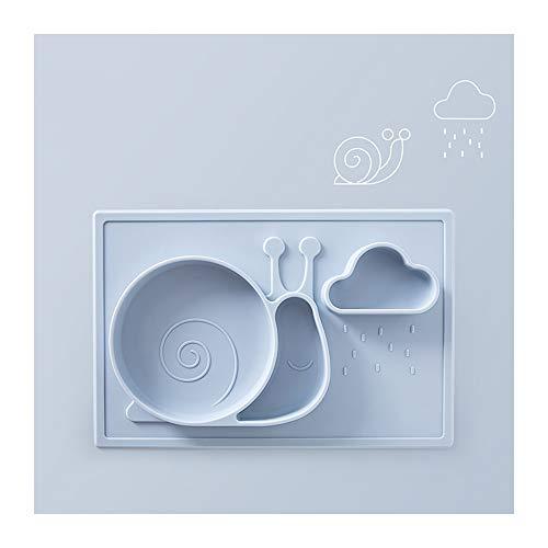 TongN Babyplatte, CD-Fach, Saugnapf, Schüssel, Futternapf, Baby-Saugnapf, Silikonmatte, Kindergeschirr (Color : A) Footed Teller
