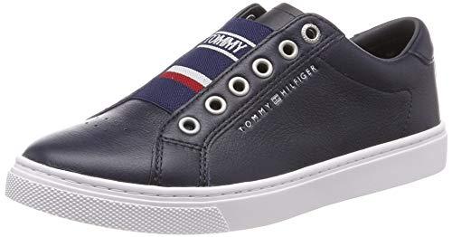 Tommy Hilfiger Damen Tommy Elastic City Sneaker, Blau (Midnight 403), 39 EU (Damen Slip-on Schuh Leder)