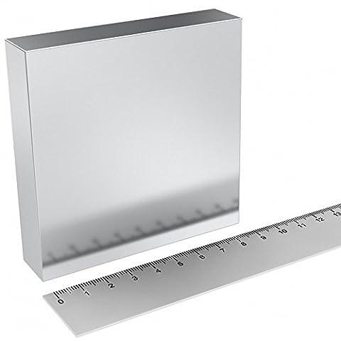 Super aimant Parallélépipède en néodyme 90x 90x 20mm. Puissance 470kg. Eau magnetizzata magnétothérapie Climsom