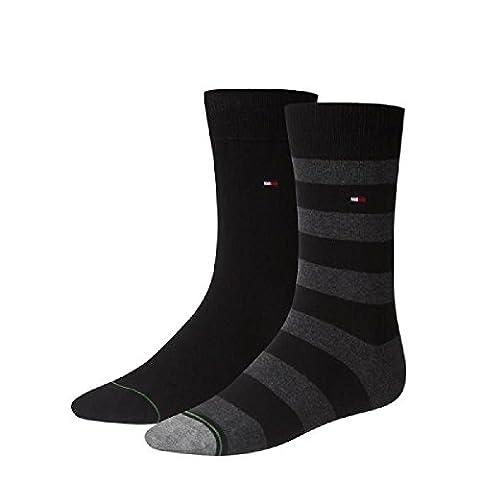 Tommy Hilfiger Socken RUGBY - Schwarz - 4 Paar je Packung Größe 43-46