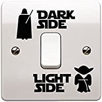 Light Side Dark Side Light Switch Vinyl Decal Sticker Child Room Lightswitch Wall Art Vader Yoda - EPIC MODZ