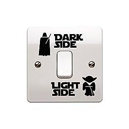Adesivo in vinile per interruttore della luce, a tema di Star Wars, per stanza dei bambini