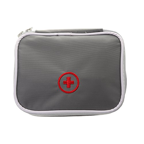 Generic Waterproof Outdoor Travel Survival Emergency Medical Bag Emergency Survival Treatment Case Pouch - grey  available at amazon for Rs.275