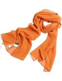 Prettystern - Elégante écharpe georgette de soie unicolore - 25 Choix des couleurs