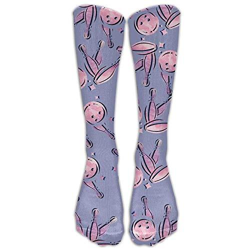 Juziwen Bowling Colortone Women Fashion Stockings Knee High Socks (Long ()