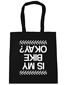 HippoWarehouse Is My Bike Okay? Tote Shopping Gym Beach Bag 42cm x38cm, 10 litres