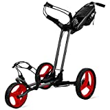 Sun Mountain Pathfinder 3 Wheel Push Golf Trolley Cart Magnetic Grey/Red