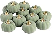 Whaline 12Pcs Artificial Pumpkins Bulk Vintage Pumpkin Harvest Lifelike Pumpkin Fake Foam Pumpkin