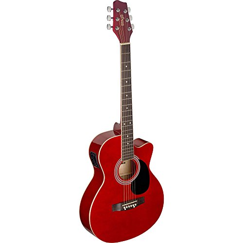Stagg sa20ace Rojo Auditorio Cutaway – Guitarra electroacústica, color rojo