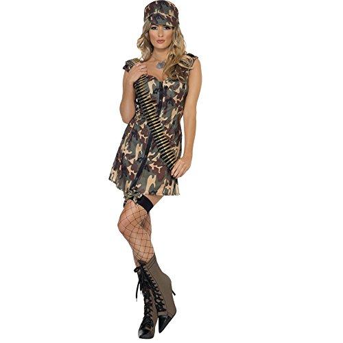 Unbekannt Army Girl - Damenkostüm Camouflage ()